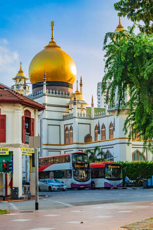 Gateway to the Masjid Sultan, Kampong Glam, Singapore. Editorial