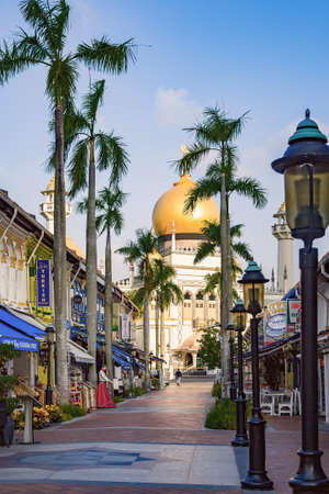Sultan Mosque in the Arab Quarter, or Kampong Glam, in Singapore