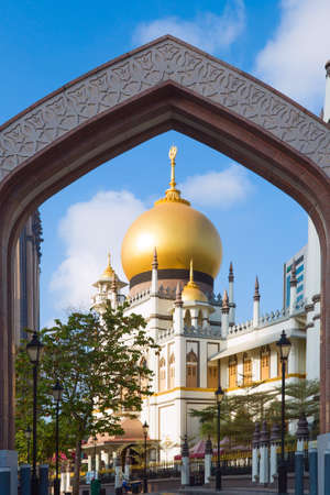 Masjid Sultan mosque on Arab Street in the Malay Heritage District, Singapore, Republic of Singapore. Editorial
