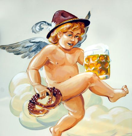 illustration of oktoberfest angel illustration