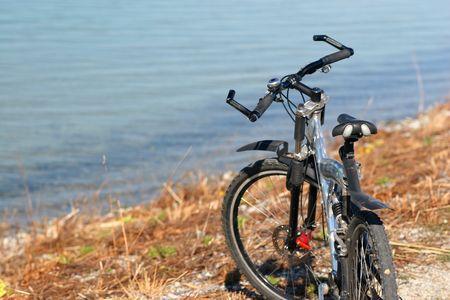bike on the beach Stock Photo - 812176
