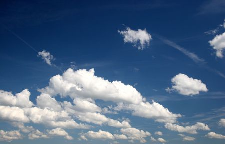 clouds on the blue sky photo