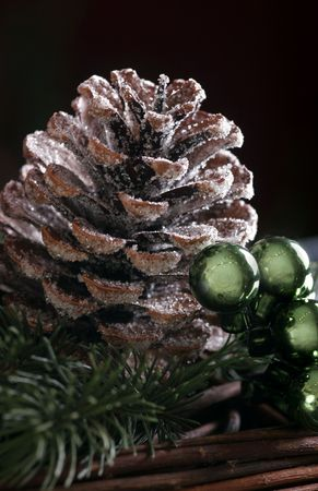 broun:  pine cone as a christmas decoration