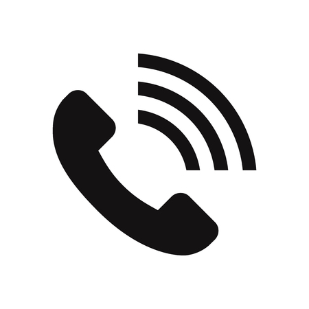 Call volume vector icon Illustration