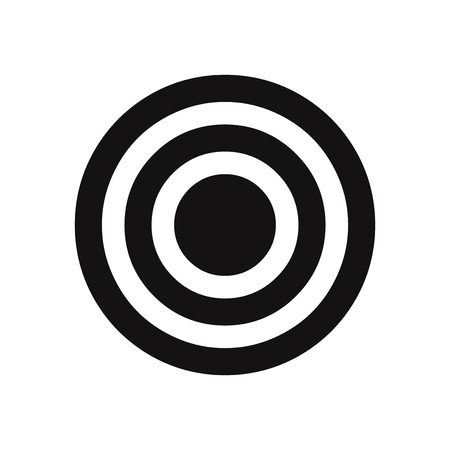 Bulls eye vector icon