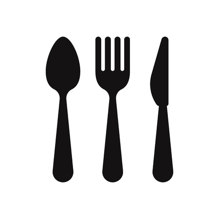 Spoon, fork and knife icon vector 写真素材 - 120747948
