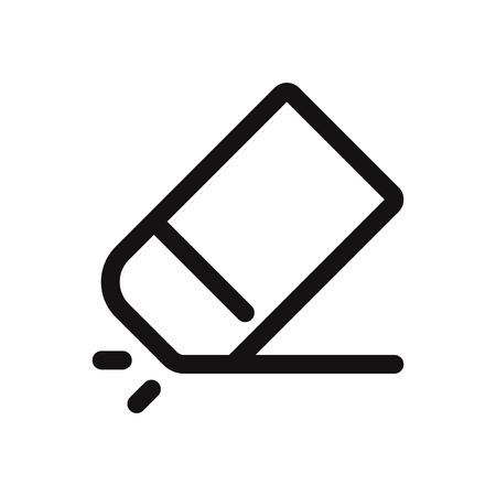 Eraser vector icon