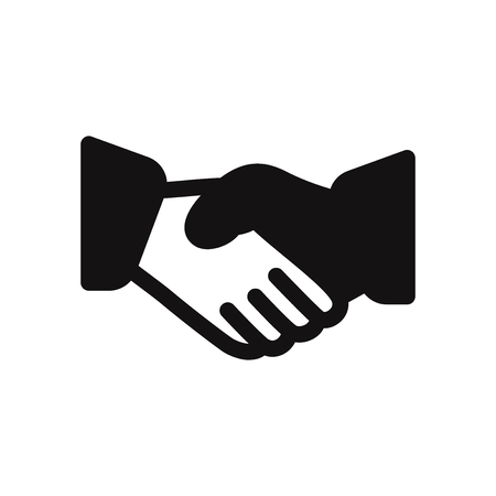 Business handshake vector icon