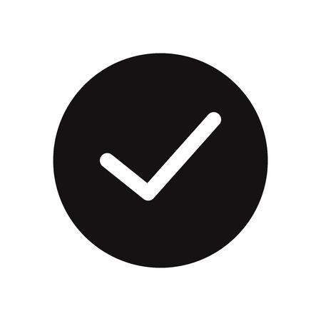 Checked button vector icon