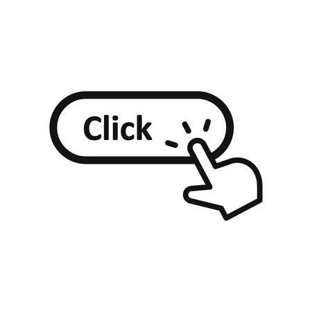 Hand click cursor clicking Click button vector icon Illustration