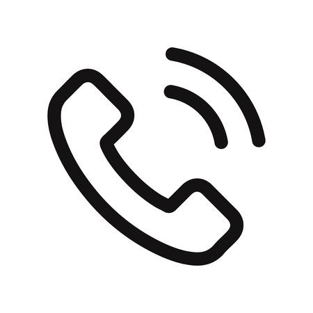 Appel téléphonique icône illustration vectorielle
