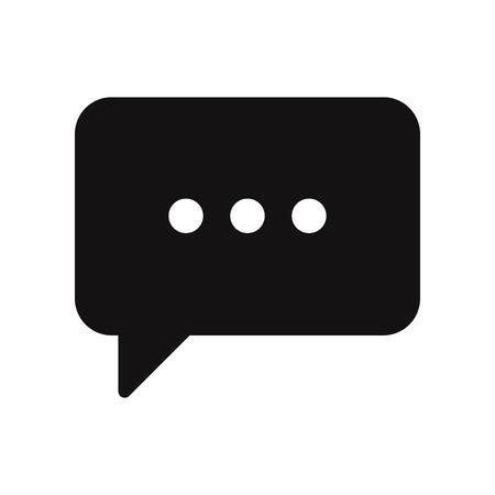 Speech bubble icon. Chat, conversation, communication, message symbol isolated on white background Ilustração