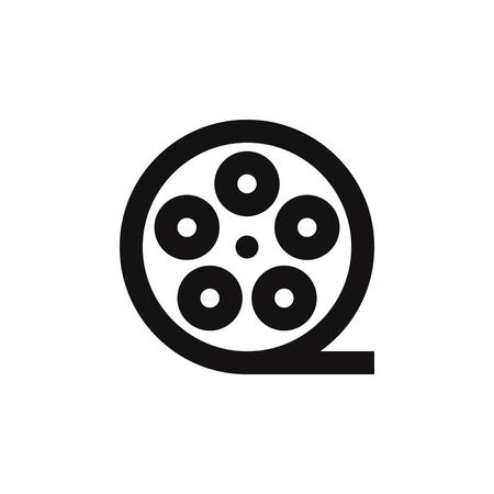 Film reel vector icon Ilustração