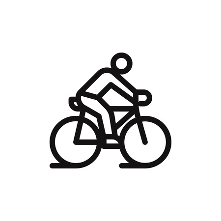Ride a bicycle vector icon