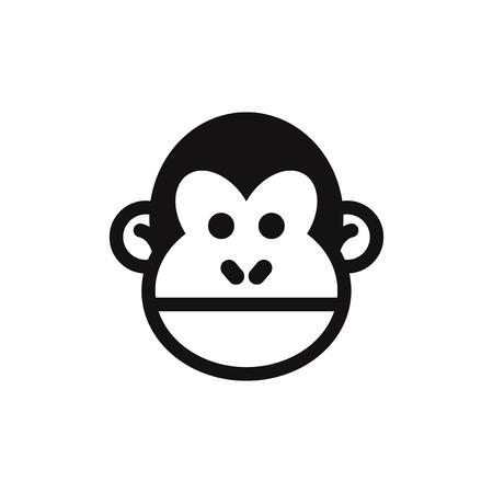 Icône de vecteur de tête de singe
