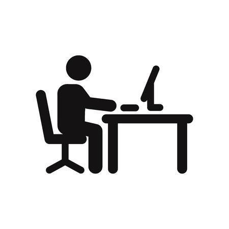 Icône de vecteur de travailleur de bureau