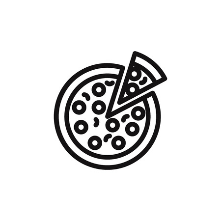 Pizza vector icon