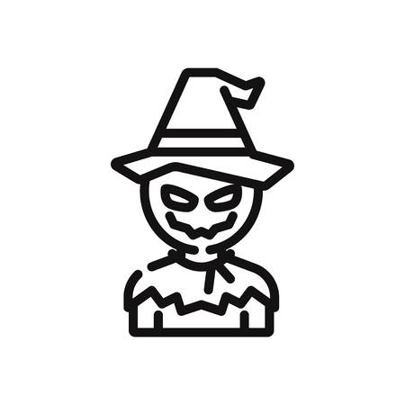 Scarecrow vector icon Stock Illustratie