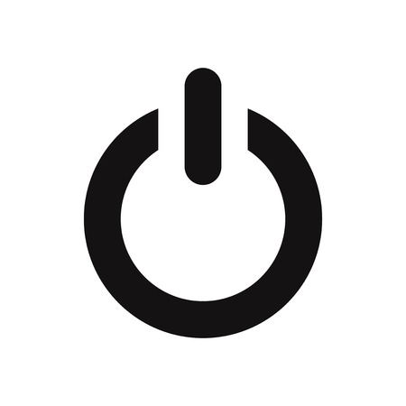 Power icon. Electric power sign isolated on white background. Modern, simple symbol in trendy design style for website, mobile, app, graphic, logo, UI. Flat vector element illustration. EPS10.