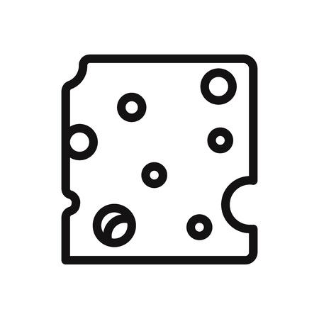 Cheese vector icon