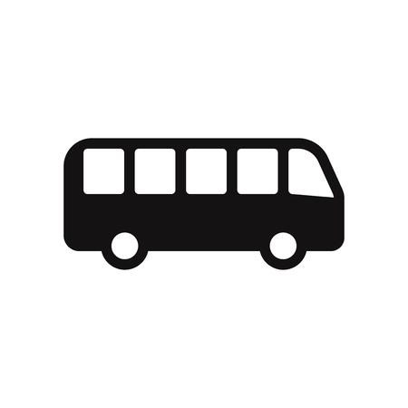 Bus vector icon. Auto bus,transport symbol. Ilustração Vetorial