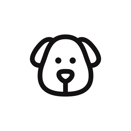 Dog head vector icon