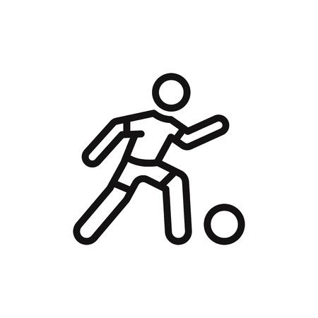 Football player vector icon Illustration
