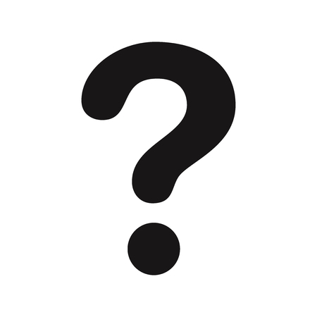 Question mark icon vector Ilustração
