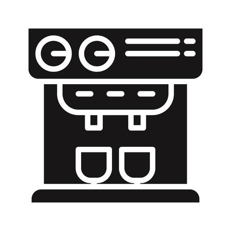 Professional coffee machine icon vector Vectores