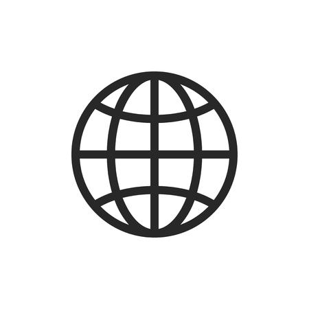 Globe vector icon Stockfoto - 122453269