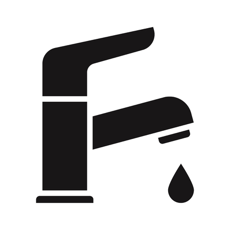 Water tap icon. Faucet vector Vektorové ilustrace