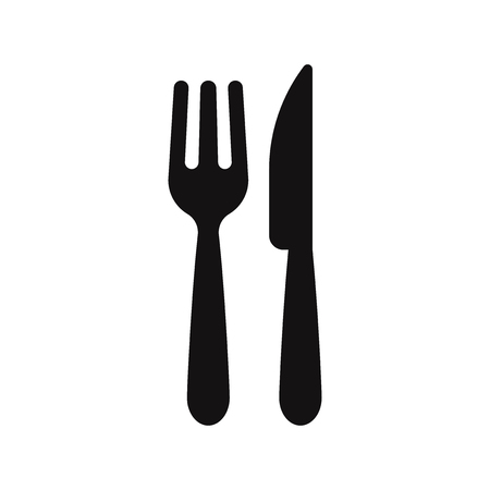 Fork and knife icon vector. Restaurant symbol. Stock Vector - 122592204