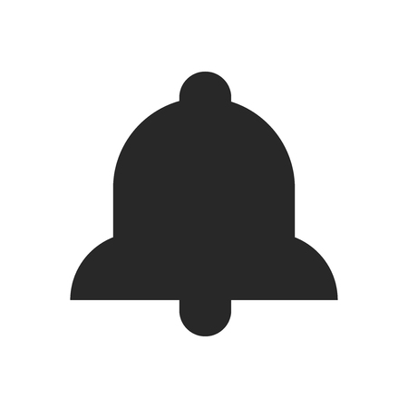 Bell icon vector, Alarm sign