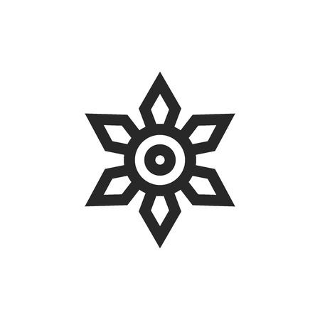 Ninja Shuriken vector icon Ilustração