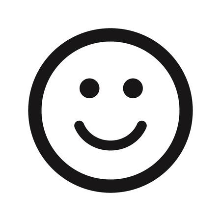 Vector de icono de sonrisa feliz