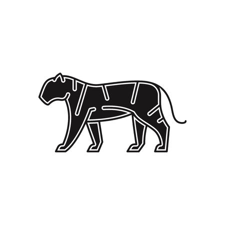 Tiger vector icon Vektorové ilustrace