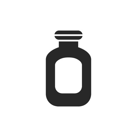 Medicine bottle vector icon