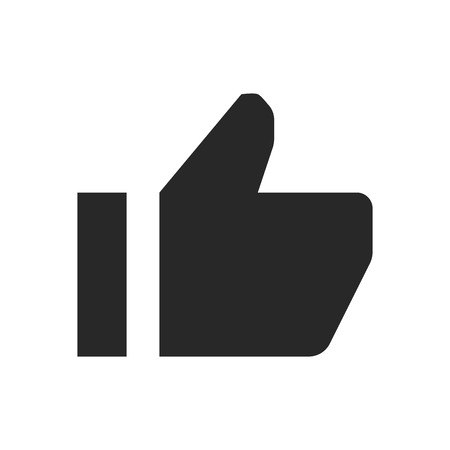 Thumb up icon vector, Like sign