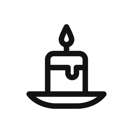 Candle icon. Light,fire symbol. Flat vector sign isolated on white background. Simple vector illustration for graphic and web design. 向量圖像