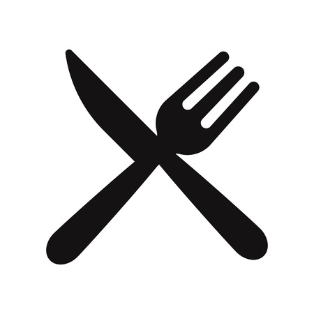 Fork and knife icon vector. Restaurant symbol. Stock Vector - 122453498