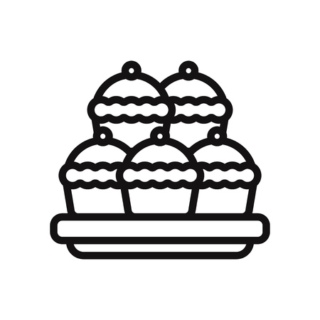 Pie vector icon