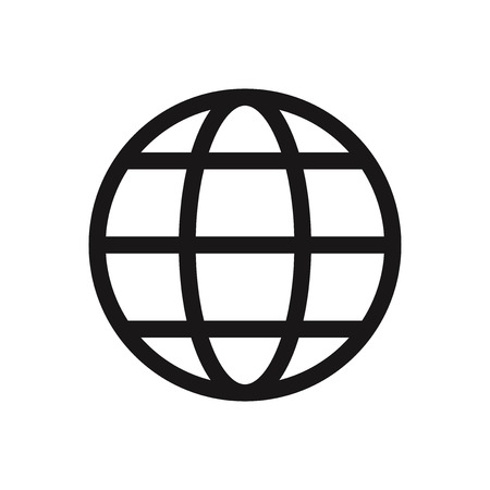 Web globe vector icon Stockfoto - 122453564