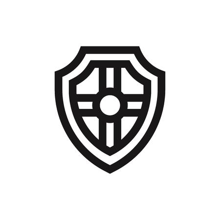 Shield icon vector Illustration