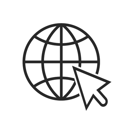 Go to web icon vector. Internet sign Stockfoto - 122520557