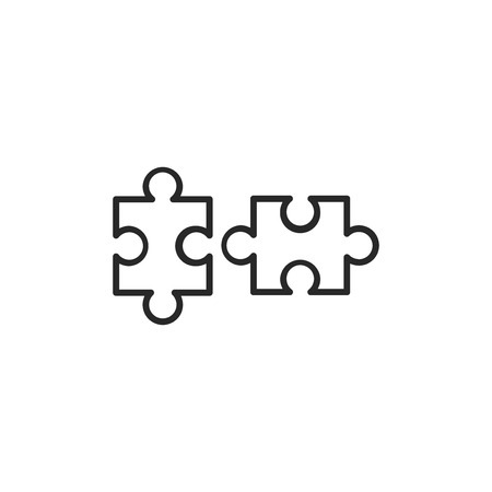 Puzzle pieces vector icon