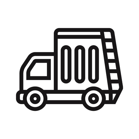 Recycling truck icon vector