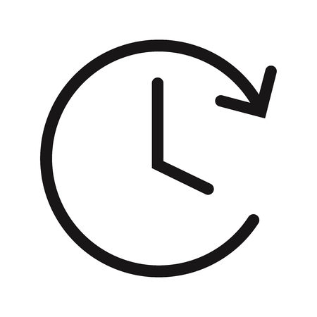 Clock vector icon vector. Watch,time symbol.