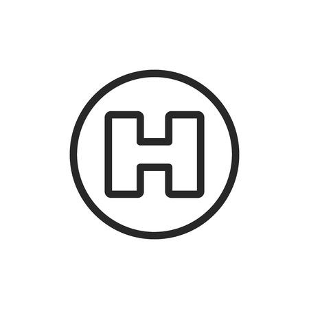 Helipad vector icon Illustration