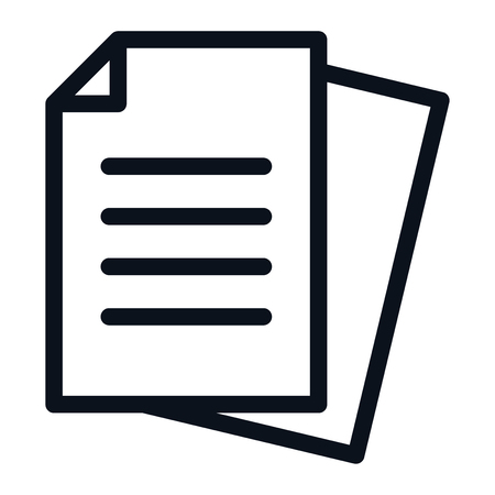 Documents icon isolated on white background. Documents icon in trendy design style. Documents vector icon modern and simple flat symbol for web site, mobile app, UI. Documents icon vector illustration, EPS10.