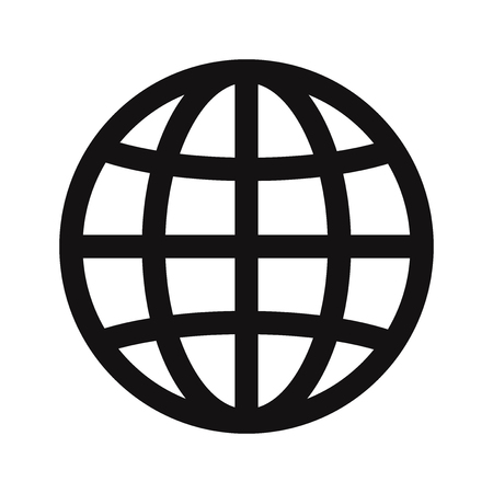 Web globe icon vector Stockfoto - 122523781